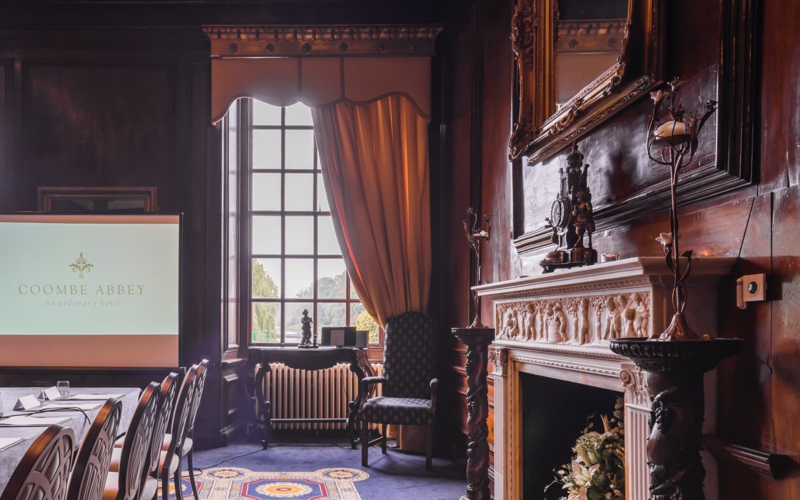 Coombe Abbey Walnut room