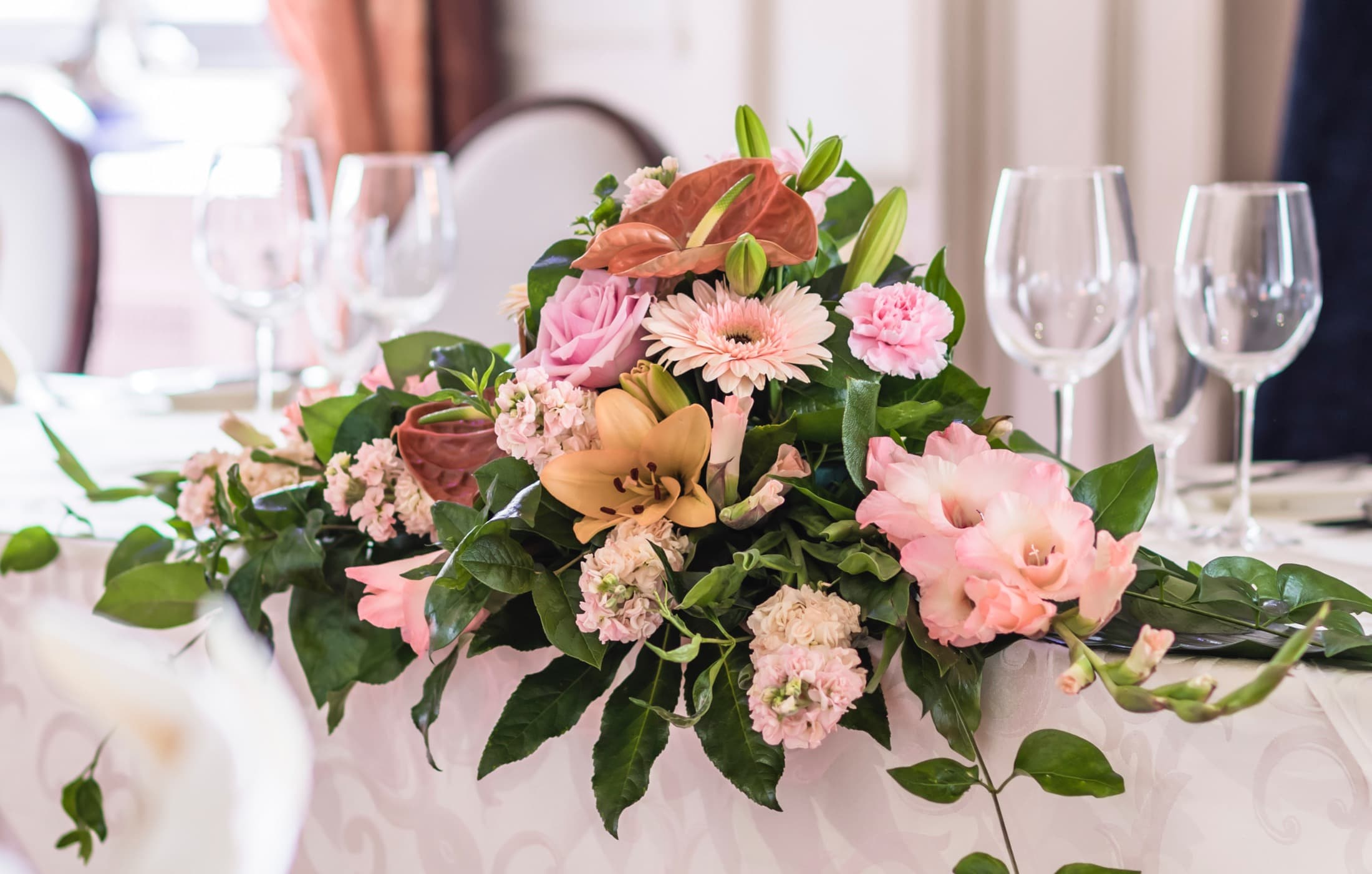 wedding flower packages at Coombe Abbey