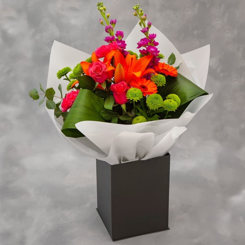 Exquisite Boxed Hand Tied Flowers