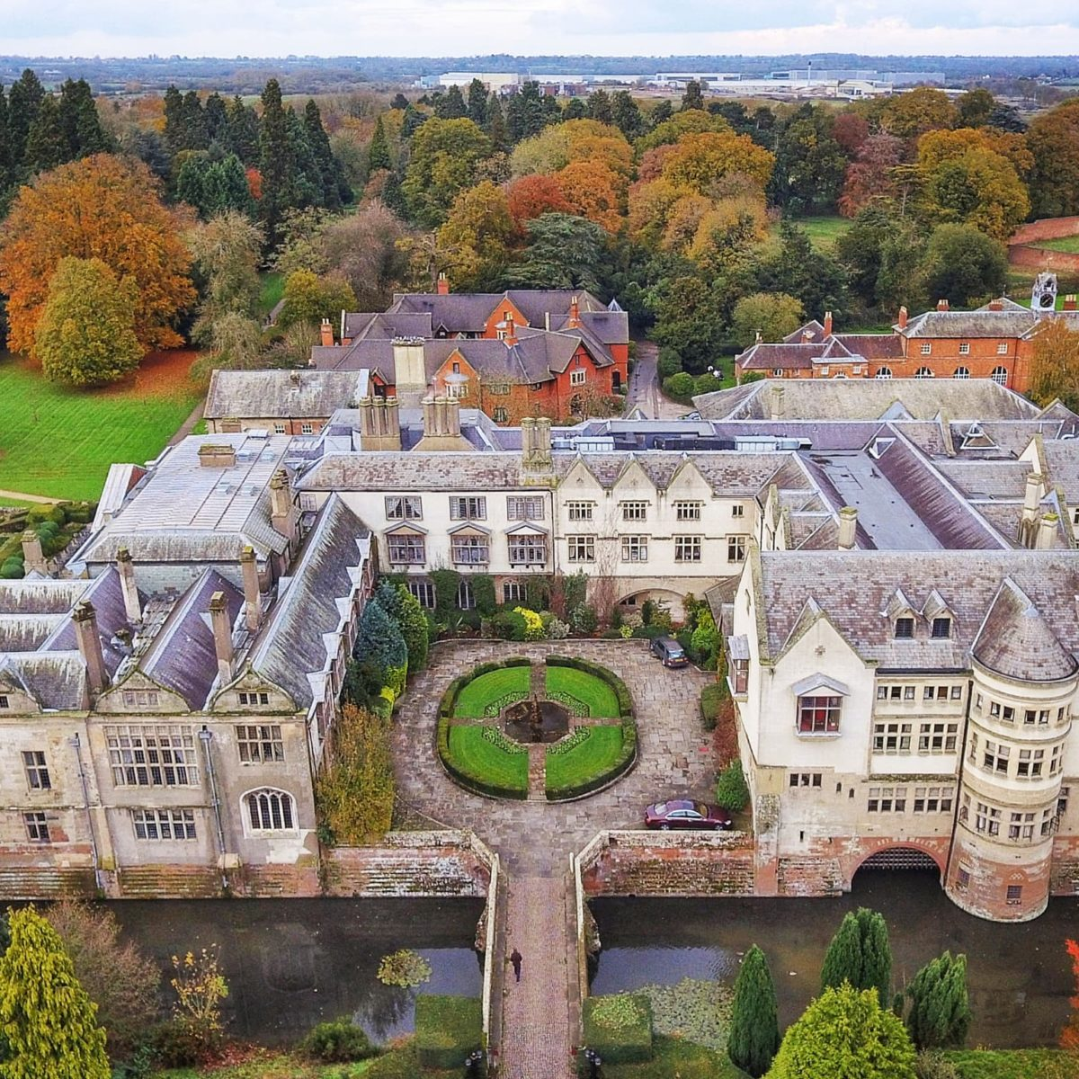 Coombe Abbey Drone View