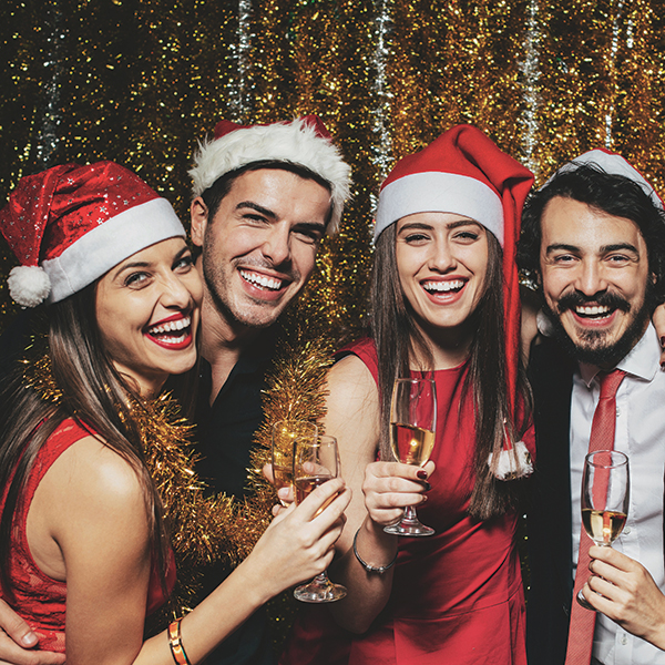 Celebrate in January christmas party night